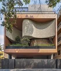 New residential building in India with an unusual balcony from Cadence Architects