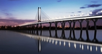 New Samuel de Champlain Bridge in Montral Canada Opening to circulation June  northbound and July st southbound