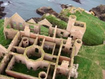 New Slains Castle in Aberdeenshire Scotland credited as an inspiration to Bram Stoker as he wrote Dracula