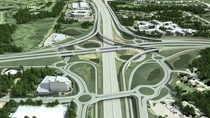 New US Route   Interstate  interchange Bloomington MN