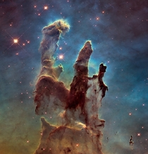 New view of the Pillars of Creation - visible
