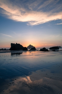 New Years Eve coincided with one of the lowest tides in years the Pacific was effectively below sea level Bandon Oregon