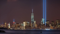 New York City Tribute in Light  from Bayonne NJ