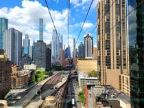 New York City view from the Roosevelt Island Tramway