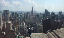 New York NY from the Rockefeller Center