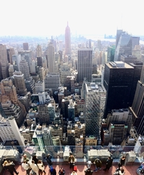 New York Vertical Panorama from the top of the Rock