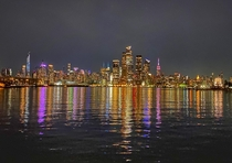 New York view from Weehawken New Jersey