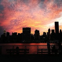 New Yorks East River Sunset