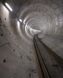 Newly constructed Tunnel for Mumbai Metro
