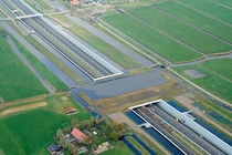 Newly opened A motorway between Delft and Schiedam South-Holland Netherlands