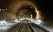 Newly opened train tunnel in Sweden building started in