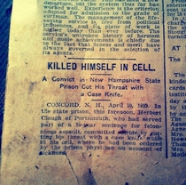 Newspaper article I found in a huge abandoned mansion that was discovered right in my own town
