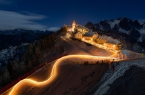 Newyear Torchlight on Mt Lussari Camporosso Italy  Photo by Bruno Pisani
