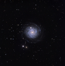 NGC  - a relatively isolated barred spiral galaxy located  million light years away in the constellation Leo Minor