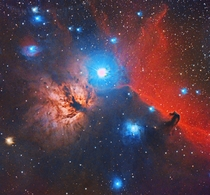 NGC  and Barnard  The Flame and the Horsehead