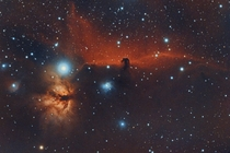 NGC  and Barnard  The Flame and the Horsehead details in comments