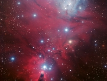 NGC  containing the Christmas Tree cluster and the Cone Nebula