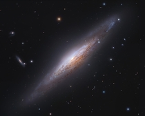 NGC  Edge-On Spiral Galaxy