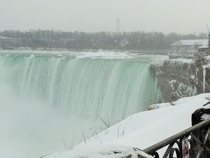 Niagara Falls during snow storm Feb