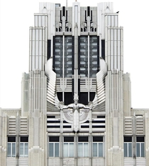 Niagara Mohawk Power Building Syracuse NY Art deco opened  Spirit of Light sculpture
