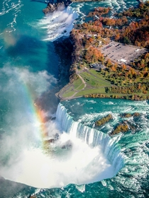 Niagra Falls from a helicopter Canadian airspace