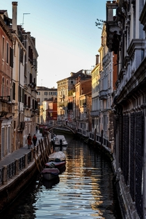 Nice day for a gondola ride - Venice Italy