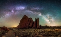 Night at the Fins in Arches Natl Park Utah