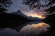 Night at the Lake Icefields Parkway Alberta