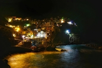 Night falls on Cinque Terre