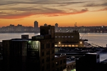 Night falls on the Meatpacking District of Manhattan New York