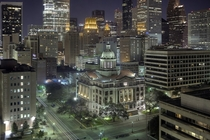 Night in downtown Houston TX