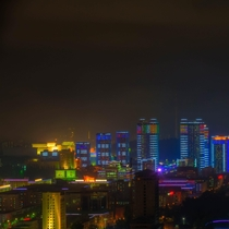 Night in Pyongyang Democratic Peoples Republic of Korea