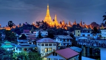Night in Yangon Burma