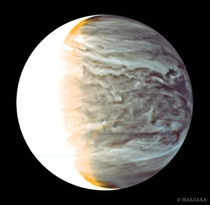 Night on Venus in Infrared courtesy of the Akatsuki spacecraft