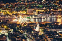 Night over Bergen Norway