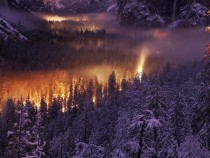 Night time in Yosemite Valley California