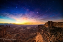 Night to Day Milky Way and Sunrise over Canyonlands National Park UT