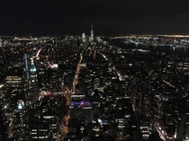 Night view of NY from the Empire States