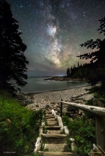 Night Walk at Little Hunters Beach - Acadia Natl Park Maine