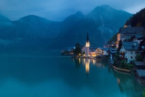 Nightfall at Hallstatt Austria