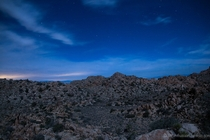 Nightfall on Queen Mountain - Joshua Tree CA OC