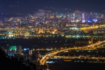 Nightscape of Taipei Taiwan