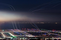 Nighttime at San Francisco Intl Airport  x-post rExposurePorn