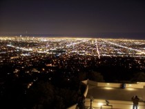Nighttime shot of LA from the Griffith observatory
