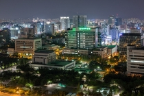 Nighttime view of Dunsan-dong district of Daejeon South Korea x-post rSouthKoreaPics
