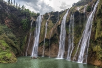 Nine-Dragon Falls Luoping Yunnan China - photo by Chaluntorn Preeyasombat