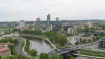 nipiks business district across the Neris River Vilnius Lithuania