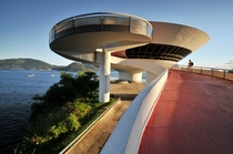 Niteroi Contemporary Art Museum in Brazil by Oscar Niemeyer