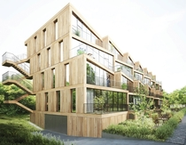 NL Architects  STUDYO Design Terraced Affordable Housing for Frankfurt
