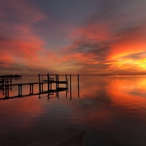 No editno filter sunrise over Tampa Bay- from St Petersburg FL
